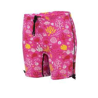 6604 SP Conni Kids Swim Short Sunset Pink Screen